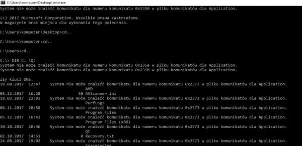 Windows Obsługa Wiersza Poleceń Forum Pasja Informatyki