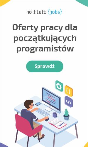 Oferty pracy dla początkujących programistów na portalu No Fluff Jobs
